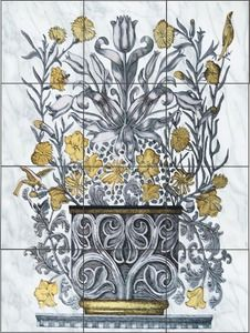 1000 images about art deco on pinterest tile murals for Art nouveau tile mural