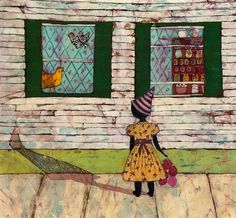 Margaret often wondered what went on in the neighbors house - 17x22 print