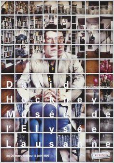 David Hockney - Photoworks Retrospective - Musée de l'Elysée Lausanne-Plakat