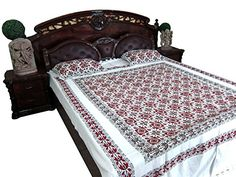 Dorm Room Bedding, Bohemian Bedspread, Ethnic Print, Cotton Bedding, Bed Spreads, Pillow Shams, Color Combinations, Toddler Bed, Indian