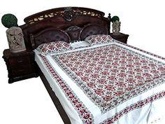 "Bedspread Hand Block ""SWIFT"" Print Indian Cotton Home Decor Bedcover Queen Sz Mogul Interior http://www.amazon.com/dp/B00RHG4JV6/ref=cm_sw_r_pi_dp_dpe5vb1GBQ3H7  #bedding #bedspreads #cottonbedding"