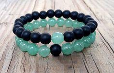Unisex couple bracelets green peridot bracelet от HarmonyLifeShop