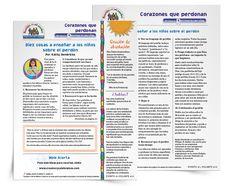 La reconciliación y el perdón | Enseñe a los niños y estudiantes sobre el perdón. El material es un volante de dos páginas a todo color que puede imprimirlo y distribuirlo.