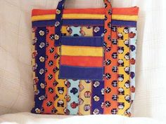Celebrate the 4th of July with this Cute, Comic Asian Figures on this Large Tote Bag by MASBags, $30.00 USD