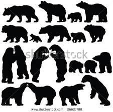 bear silhouette - Cerca amb Google