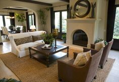 Incredible picture gallery of 53 cozy and small living room interior designs. Pictures of great living room design ideas for small to mid-sized spaces. Tuscan Living Rooms, Big Living Rooms, Small Living Room Design, Elegant Living Room, Family Room Design, Beautiful Living Rooms, Living Room With Fireplace, Living Room Modern, Home Living Room