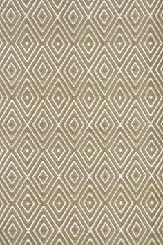 Dash and Albert Rugs Woven Diamond Khaki/White Rug. Putting this pattern in a runner on my stairs right now. Looks fabulous!