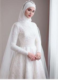 non traditional muslim wedding dresses Kebaya Wedding, Muslimah Wedding Dress, Muslim Wedding Dresses, Muslim Brides, Elegant Wedding Dress, Dream Wedding Dresses, Bridal Dresses, Wedding Gowns, Muslim Couples