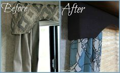 Upgrading tacky trailer decor. - I don't have a trailer, but this is an awesome idea!
