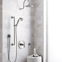 Image result for porcelain shower statuario