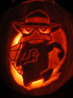 perry the platypus pumpkin