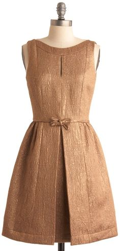 ModCloth  Walk Away with Bronze Dress