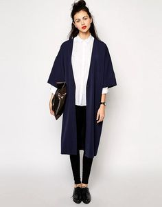 Kimono largo look trabajo outfit de verano tendencia ropa de moda