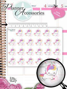 Sticker - Einhorn Sticker Happy Mail Sticker NR1563 - ein Designerstück von PlannerAccessories bei DaWanda
