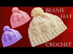 Como tejer gorro a Crochet - Beanie Crochet learn - YouTube