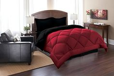 Silky Soft - Goose Down Alternative Reversible 3pc Comforter Set- Available In A Few Sizes And Colors , King, Black/Burgundy Elegance Linen http://www.amazon.com/dp/B00E27E2T2/ref=cm_sw_r_pi_dp_WfNCub100R6CJ