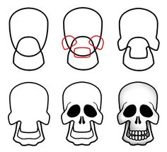 Skull outline only by vicious masks pinterest outlines how to draw cartoon skulls thecheapjerseys Images