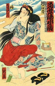 Hiroshi Hirakawa - tattoo woman