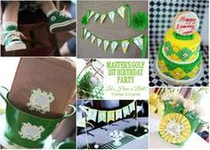 Masters Golf 1st Birthday Party - Golf site has different theme ideas