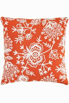 Fresh American Floral Indoor/Outdoor Throw Pillow