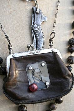 altered art coin purse