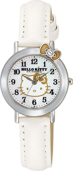 Citizen Q&q Ladies Watch Sanrio Hello Kitty Analog Display White JP for sale online Hello Kitty Jewelry, Hello Kitty Items, Sanrio Hello Kitty, Hello Kitty Merchandise, Gift Store, White Leather, Jewelry Watches, Citizen, Band