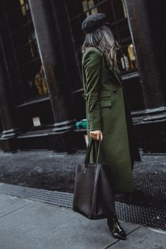 winter coat veronica beard green winter style givenchy bag new york streetstyle shopping blog blogger fashion outfit