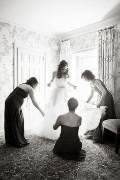 Wedding Dress, Reem Acra - Long Island Wedding http://caratsandcake.com/thebrooksteins