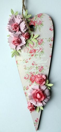 A fab heart project using Floral Pavilion papers by Maxinecrafts