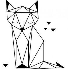Geometric Deer, Geometric Drawing, Chat Origami, Ambiance Sticker, Deer Drawing, Cactus Drawing, Art Et Design, Crazy Quilt Blocks, Tape Art
