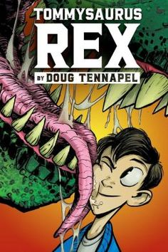 Don't think a graphic novel can move you? Make you suffer through a tragedy, make you celebrate new friendships, make you care for something fictional and drawn? Then you really need to see Doug TenNapel's works. His latest, TOMMYSAURUS REX is a poignant look at friendship, multigenerational relationships (and magic ankles), and, yes, a dinosaur. 2nd #bookaday entry for the day. Please tell me that your kids know about Doug's graphic novels. Make sure they are on your classroom \.