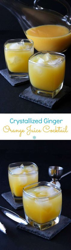 Crystallized Ginger Orange Juice Cocktail is a spicy sweet concoction that will have you breathing a sigh of comfort. A fruity and refreshing recipe.