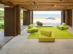 Loungemoebel-outdoor-taiki-gruen-textil-lampe-terrasse ... Cabanne Gartenpavillon Paola Lenti Bestetti Associati