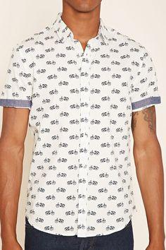 Bicycle Print Shirt | 21 MEN - 2000237974