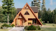 A Frame House Plans, Modern House Plans, Glamping, Construction, House Styles, Carne, Home Decor, House Template, Cabanas