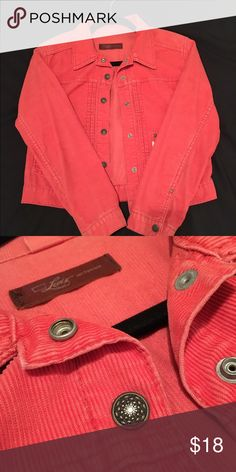NWOT Levi's Corduroy Coral Crop Jacket The BEST jacket for spring and summer! Brings a pop to your outfit and if perfect for the cooler nights. Selling because I don't have enough to match it with. True to size. Levi's Jackets & Coats