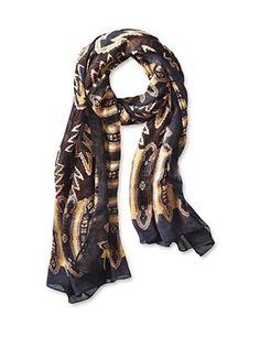 65% OFF Theodora & Callum Women's Laredo Wearable Art Gauze Scarf, Brown Multi