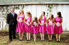 Groom and bridesmaids photo @Amanda Eaton