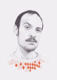 James  Denise Nestor  graphite, colored pencil on paper