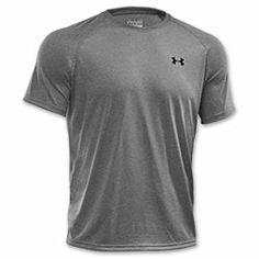 Men's Under Armour Tech Short Sleeve T-Shirt| FinishLine.com | True Grey Heather/Black
