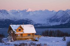 And this hardcore log cabin in the middle of the Alaskan wilderness.