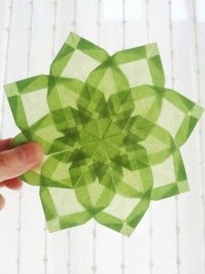 origami suncatcher