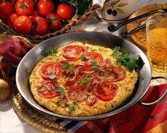 Unser beliebtes Rezept für Spanisches Tomaten-Omelett und mehr als 55.000 weitere kostenlose Rezepte auf LECKER.de.