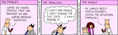 How Typical.... - The Dilbert Strip for February 17, 1995