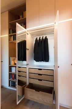 Einbauschrank, Wandschrank, Flurschrank, Garderobe, lackiert