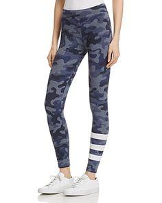 Sundry Camo Print Stripe Yoga Pants