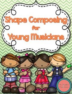 Shape Composition for steady beat, or Ta TiTi. Students practice drawing basic shapes, and compose music! SO cool! #musedchat #elmusiced