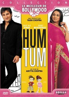 Hum Tum (Hindi: हम तुम, translation: You and Me, Urdu: ہم تم) is a Bollywood movie, released in India on May directed by Kunal Kohli and produced by Aditya Chopra and Yash Chopra. The movie stars Saif Ali Khan and Rani Mukerji in the lead roles. Best Bollywood Movies, Bollywood Actors, Bollywood Songs, All Movies, Movies Online, Amazing Movies, Movies Free, Watch Movies, Bollywood Posters