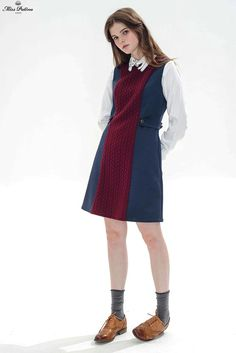 Ruby Tuesday Dress (Blue/Burgundy) - Miss Patina - Vintage Inspired Fashion