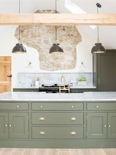 Kitchen Room Design, Home Decor Kitchen, Kitchen Living, Interior Design Kitchen, New Kitchen, Home Kitchens, Modern Country Kitchens, Colorful Kitchen Decor, Kitchen Colors